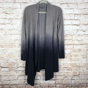 Barefoot Dreams Gray Ombre Open Wrap Cardiga S/M